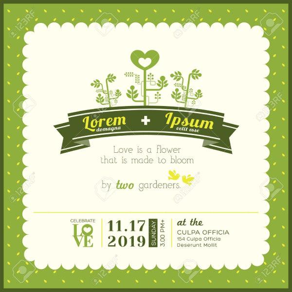 garden wedding invitation card