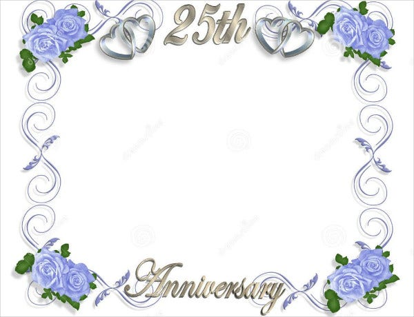 Blank Wedding Anniversary Card