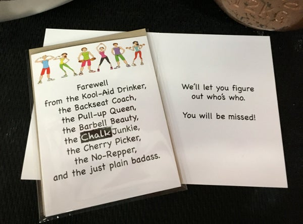 9  office farewell card