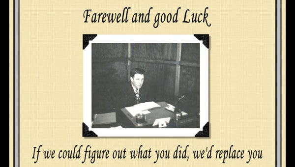 officefarewellcard