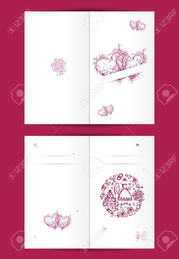 wedding card cover design
