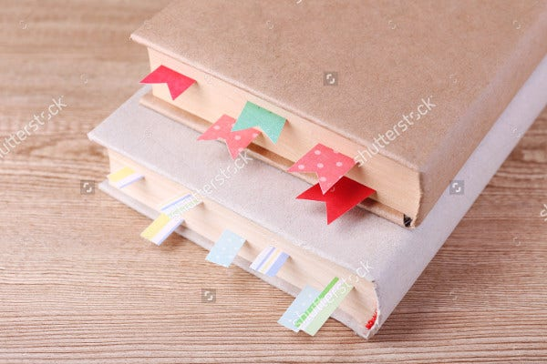 Stationery Gifts Student Bookmark Template