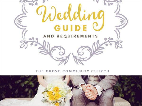 wedding guide cover design