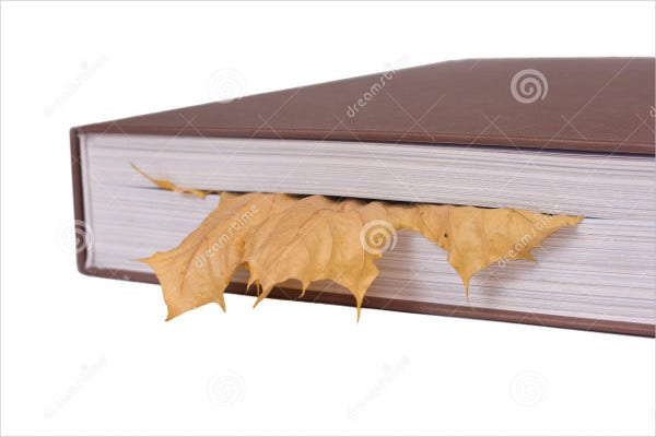 Leaf Student Bookmark Template