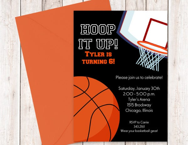 Basketball Birthday Card Template