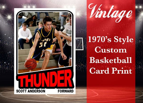 Basketball Card Photo Template
