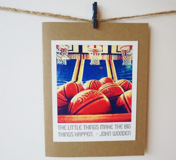 Basketball Greeting Card Template