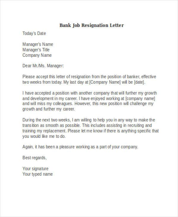 39 Resignation Letter Examples – Job Resignation Letters