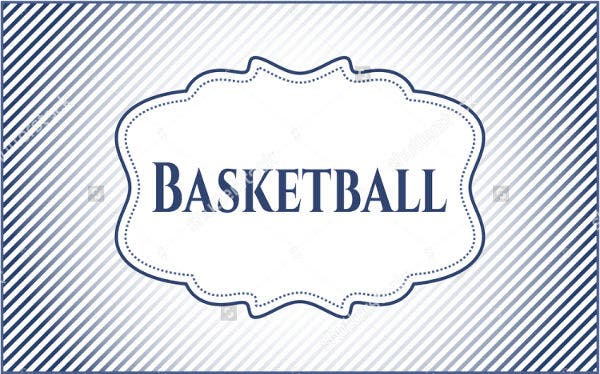 Blank Basketball Card Template