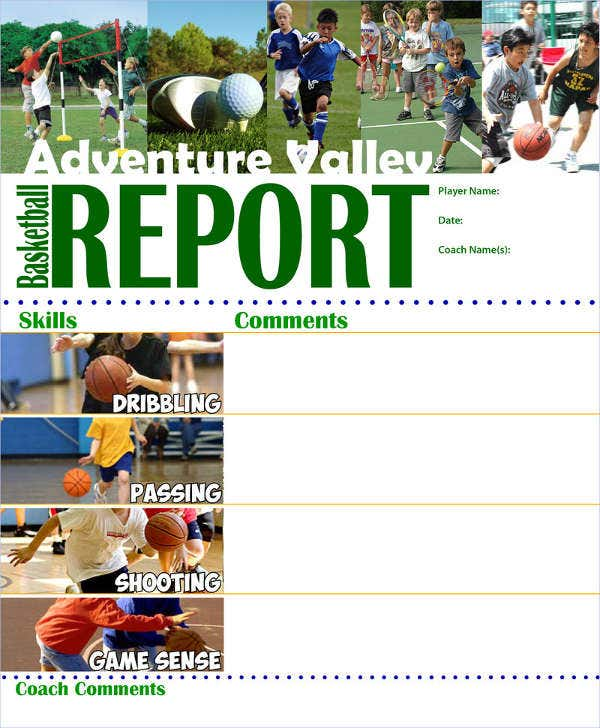 Basketball Report Card Template