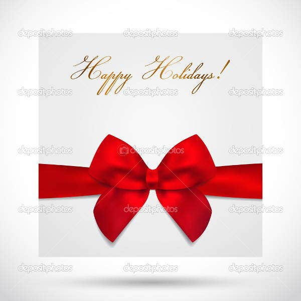 holiday wishes gift card