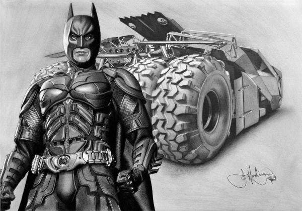 realistic superhero drawing