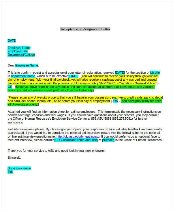 40 resignation letter example free premium templates acceptance of employee resignation example spiritdancerdesigns Choice Image