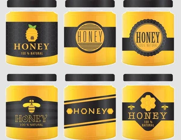 vector-honey-jar-label