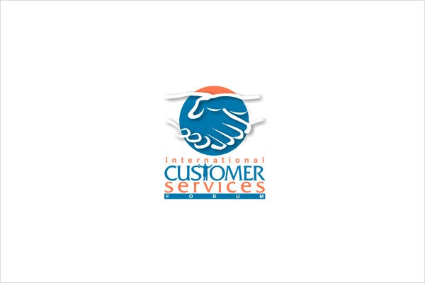 Abstract Customer Service Logo