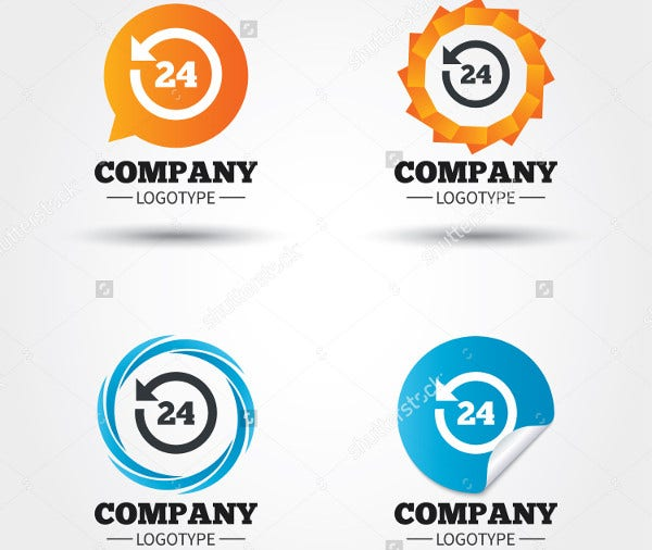 customer service logo vector