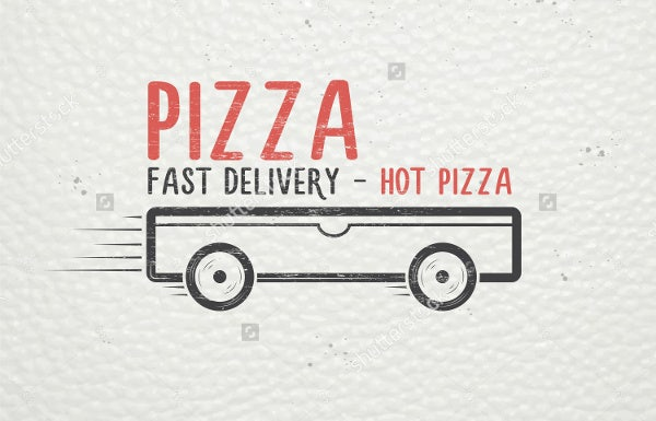pizza delivery service logo