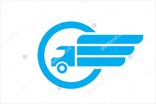 abstract delivery service logo