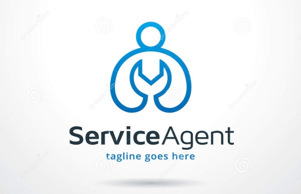 delivery service agent logo