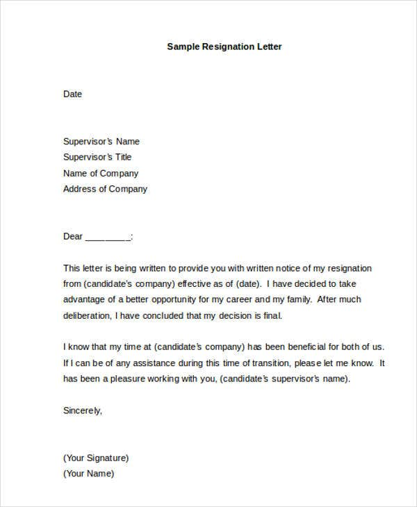 40 resignation letter example free premium templates resignation sample with reason as better opportunity spiritdancerdesigns Choice Image