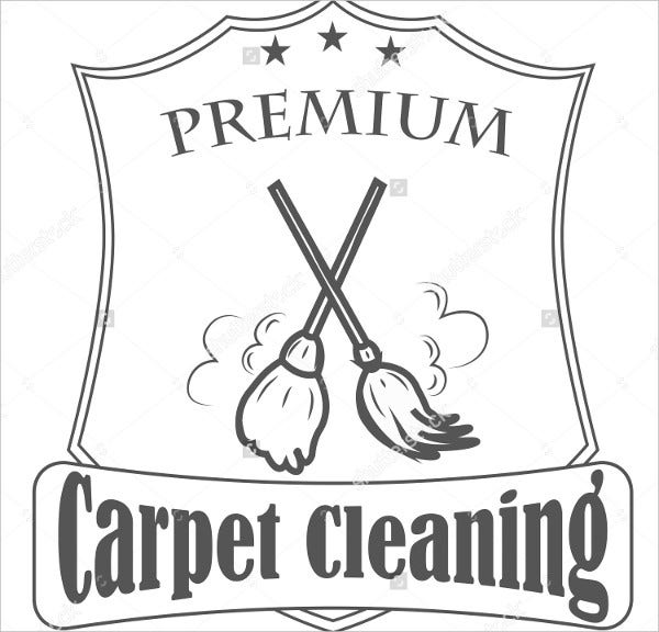 Carpet Cleaning Service Logo