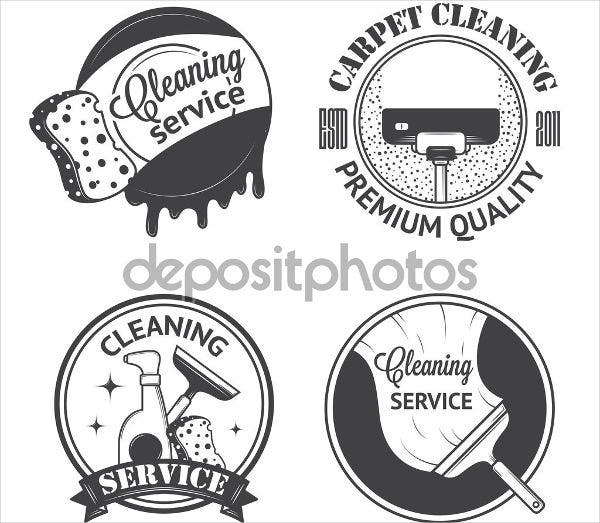 Vintage Cleaning Service Logo