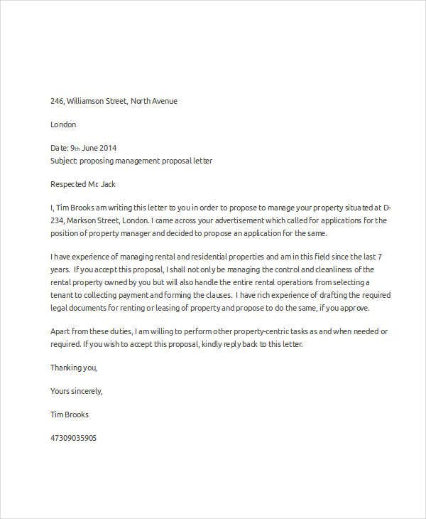property management offer letter template