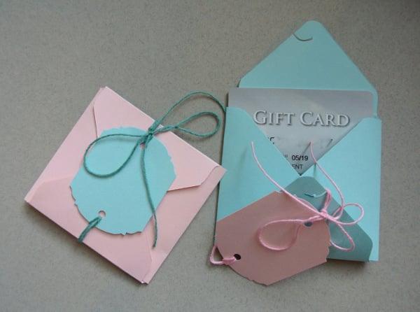 handmade baby shower gift card