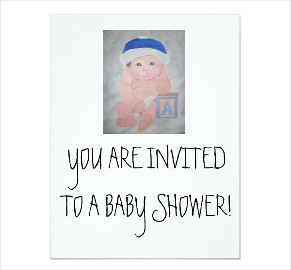 baby shower gift cards  free psd, vector eps, png format, Baby shower invitation