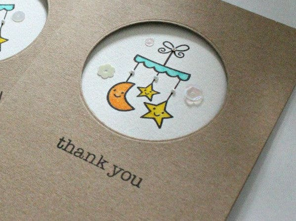 baby shower thank you gift card