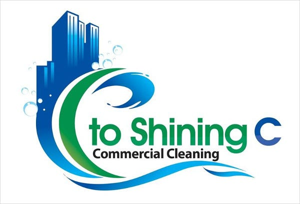 Commercial Cleaning Service Logo