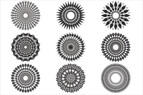 Decorative Sunburst Brushes