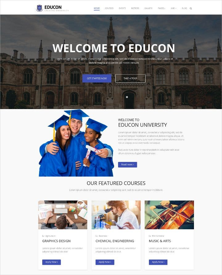 modern responsive joomla template for university1