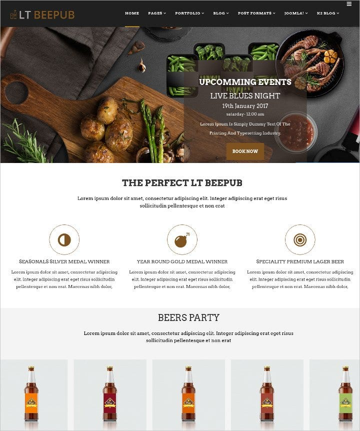 responsive bar or bistro joomla template1