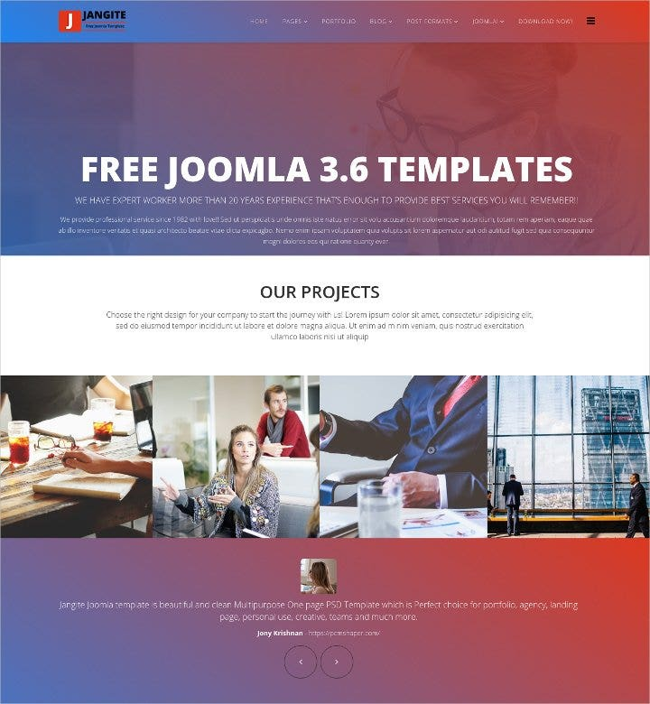 a perfect free business joomla template1