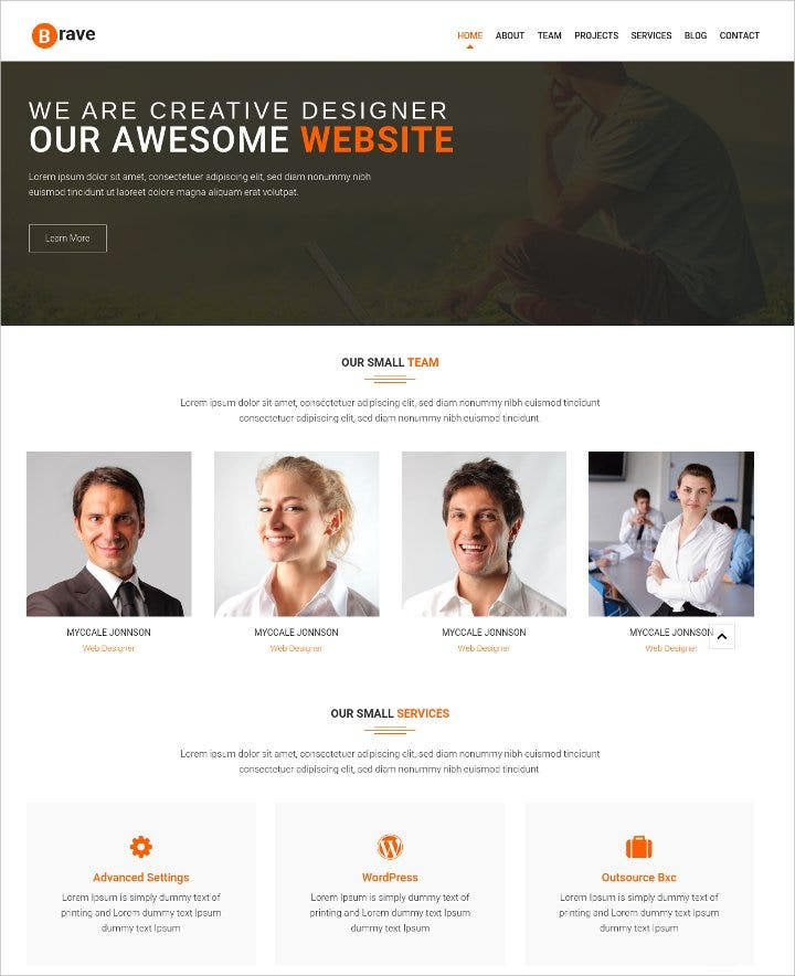 fully responsive one page joomla template11