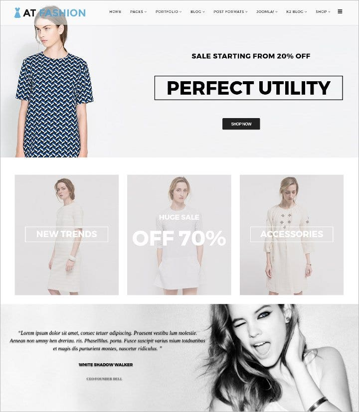 fashion shop responsive joomla template1
