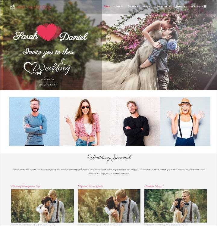 responsive wedding planner joomla template1