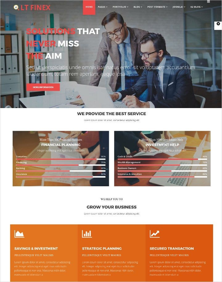 responsive financial joomla template1