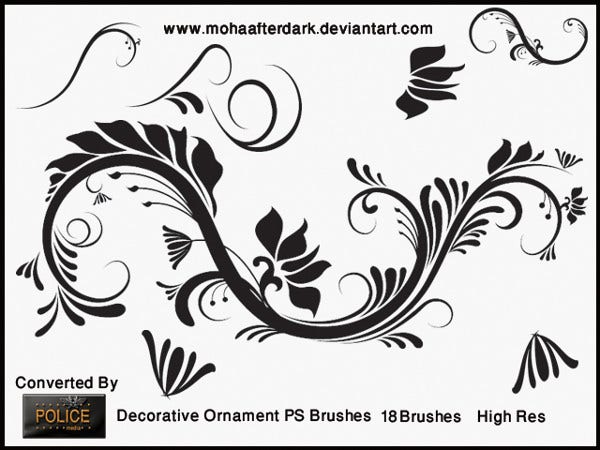 Ornament Decorative Brushes