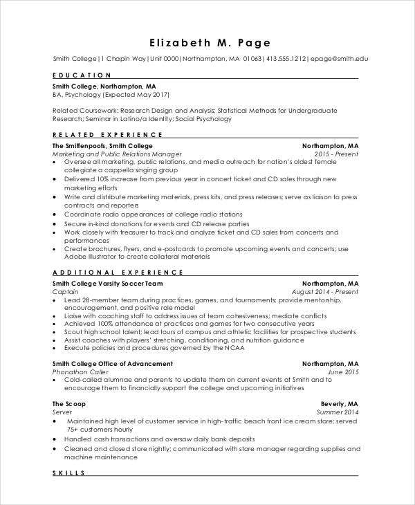 Fresher Engineer Resume Format in PDF
