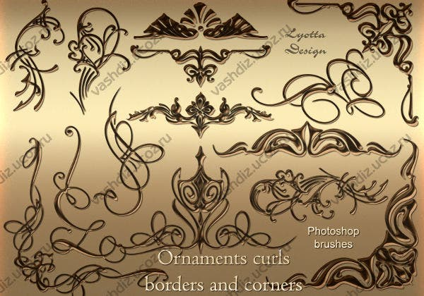 Ornament Corner and Border Brushes