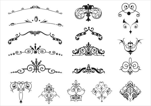 Ornament Border Brushes