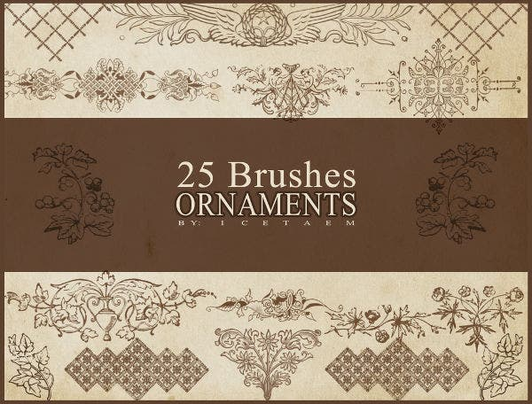 Ornament Pattern Brushes