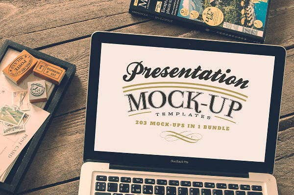photoshop presentation mockup template