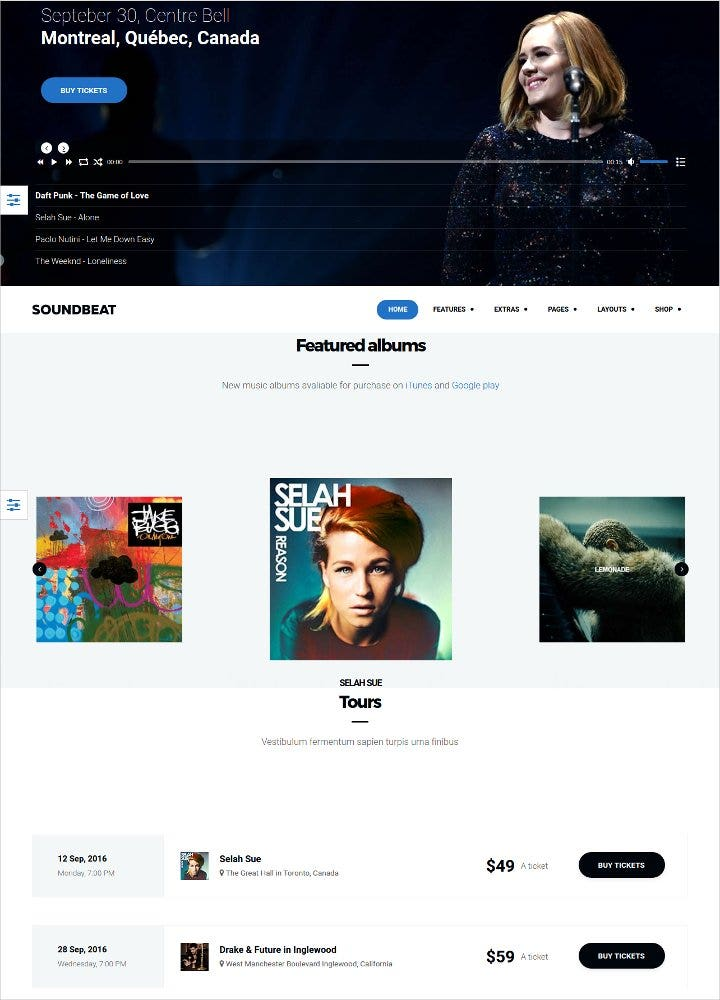 music ecommerce joomla template1