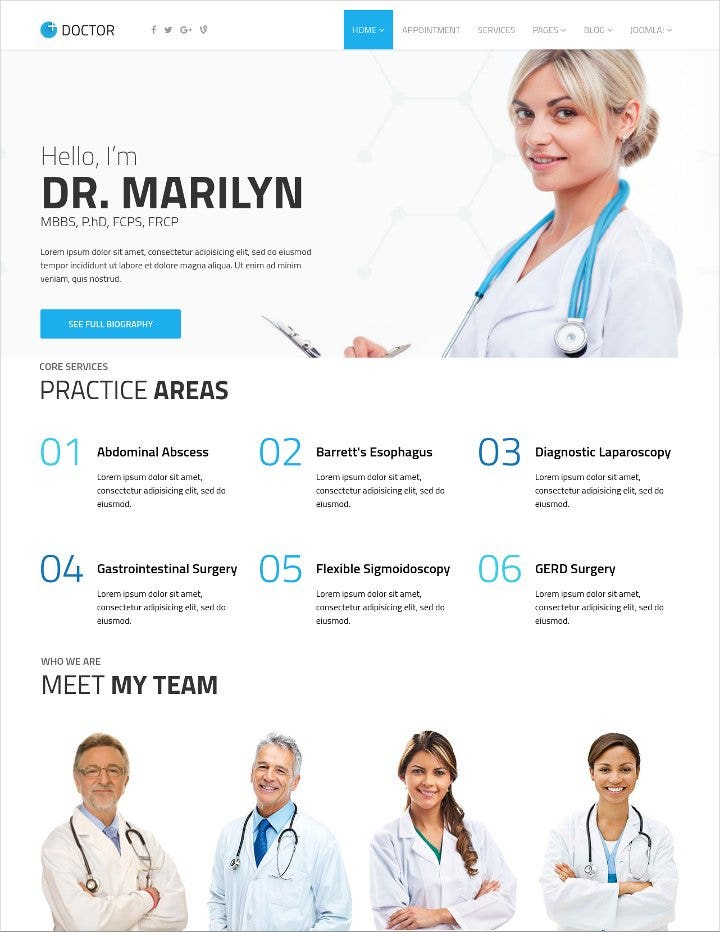 medical themed joomla template for clinics1