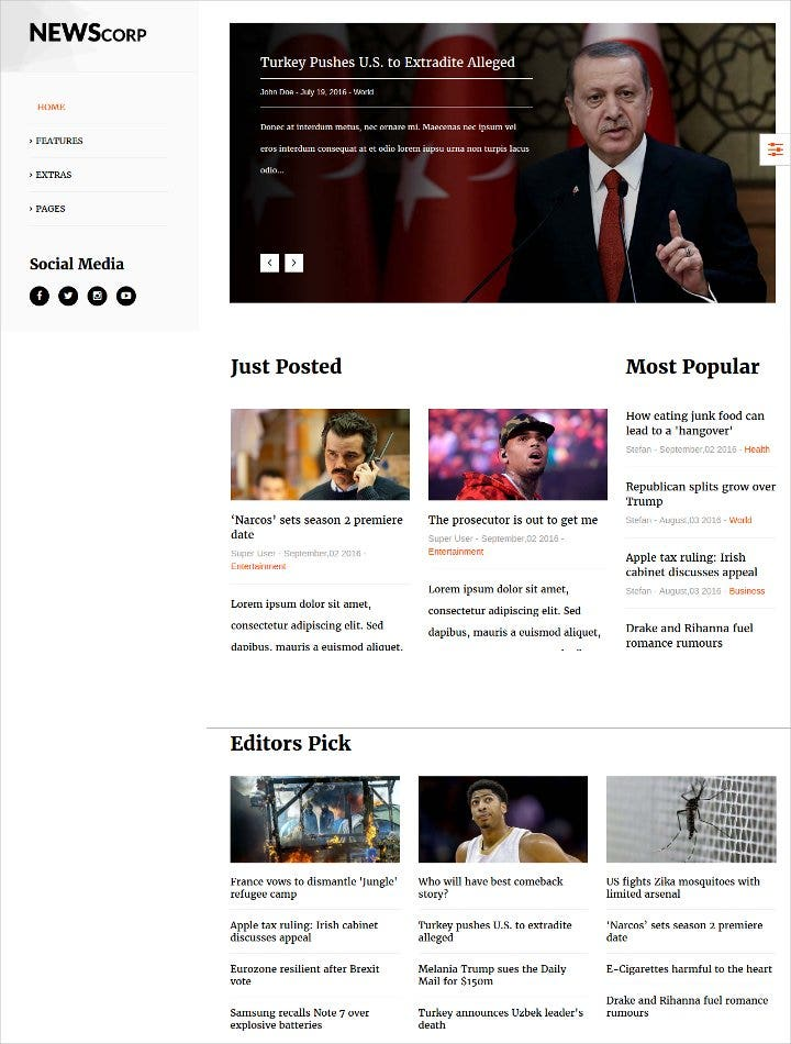joomla template for news magazine1