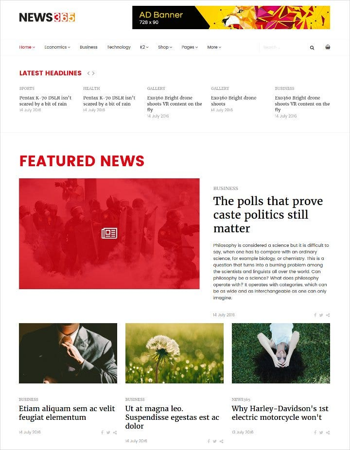responsive joomla template for news based site1