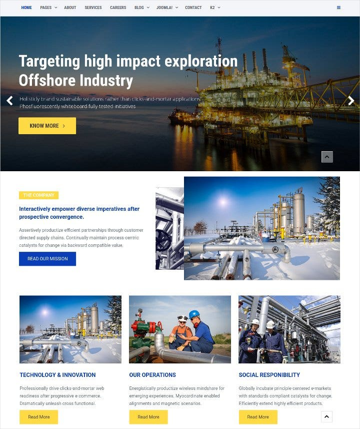 offshore industrial joomla template11